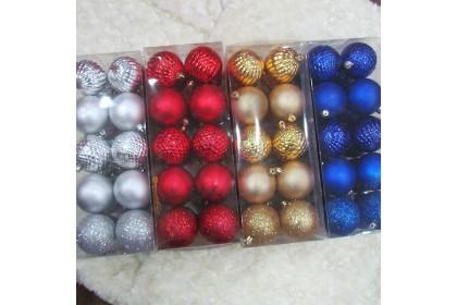 [Ready Stock] Xmas Tree Ball Pack Set (7cm/20pcs) Christmas Tree Decoration Props