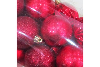 [Ready Stock] Xmas Tree Ball Pack Set (6cm/26pcs) Christmas Tree Decoration Props