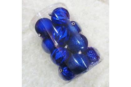[Ready Stock] Xmas Tree Ball Pack Set (8cm/16pcs) Christmas Tree Decoration Props