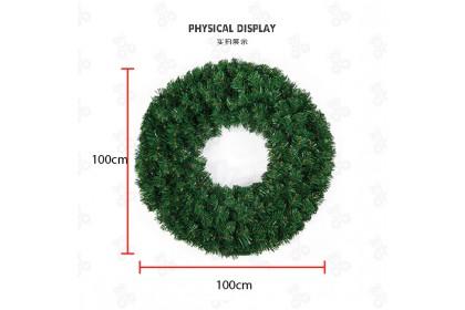 [Ready Stock] 100CM XMAS WREATH HANGING DECORATION PVC聖誕花環 - Christmas Plain Wreath Self DIY Base