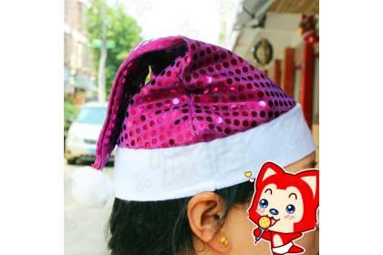 [Ready Stock] Xmas Party Caps (1pcs) - Christmas Glittering Sequin Polkadot Hat