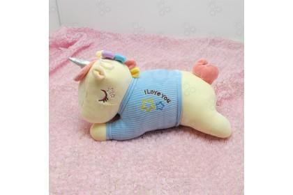 (Ready Stock) 2020 New 37cm Cute Sweet Love Unicorn Yellow Skin Pillow Birthday Gift Stuffed Toy Plush Toy Doll