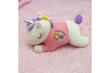 (Ready Stock) 2020 New 24cm Cute Sweet Love Unicorn Yellow Skin Pillow Birthday Gift Stuffed Toy Plush Toy Doll