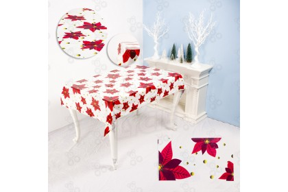 [Ready Stock] 110*180cm Xmas TableCloth - Best Table Cover Decoration (Disposable)