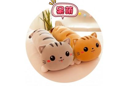 (Ready Stock) 100cm Cute Soft Lazy cat Sleeping Pillow Lie Down Cat Stuffed Toy Plush Toy Doll