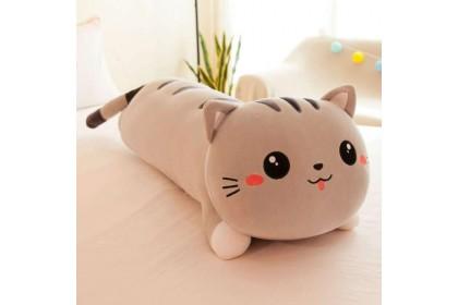 (Ready Stock) 120cm Cute Soft Lazy cat Sleeping Pillow Lie Down Cat Stuffed Toy Plush Toy Doll
