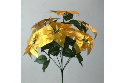 [Ready Stock] XMAS FLOWER 7頭21葉聖誕花 - Christmas Soul Artificial Poinsettia Flower Decoration