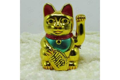 [Ready Stock] 12'' Chinese Fortune Waving Cat Lucky Prosperous, Wealth is abundant- 新年招財貓,招財金寶,生意欣榮,財源廣進