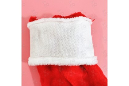 [Ready Stock] XMAS SOCKS GIFT毛絨聖誕襪- Christmas Plush Stocking Decoration Props