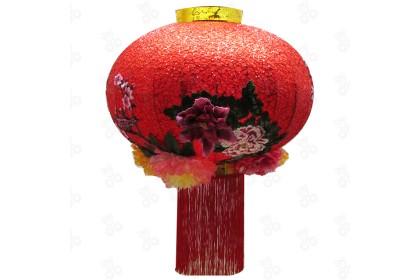 [Pre-Order] LAN21-7 - 80cm CNY 3D Embroidery Peony Lantern 3D刺绣牡丹灯笼特別設計款 (Custom Made) 1pcs