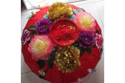 [Pre-Order] LAN21-8 -100cm CNY 3D Embroidery Flower with 3D Bird Lantern 3D刺绣花鳥灯笼特別設計款 (Custom Made) 1pcs