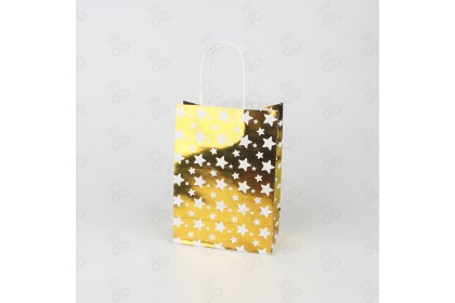 [Ready Stock] Hotstamp Pattern Style Paper Bag Gift Bag Small size (1pcs)