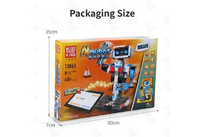 [Ready Stock] MK13063 2.4Ghz Remote Control RC Aimubot Programming Robot Android White Blue Bricks Block