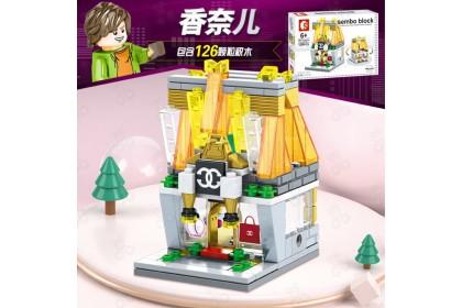 [Ready Stock] Sembo Block SD6015 SD6024 SD6070 SD6071 Building MINI Street Set (4-in-1) Combo Brick Set