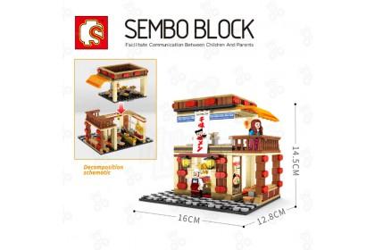 [Ready Stock] [Free 3 Minifigure] Sembo Block 601024 Block Building Street Series Ramen Shop 365 pcs