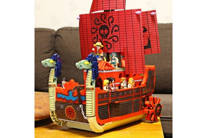 [Ready Stock] SY Sheng Yuan SY6296 One Pcs Emperor Han Cook's Royal Red Pirate Ship Vehicle with Mini Figures 1099 pcs