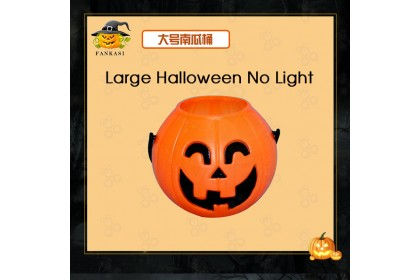 (Ready Stock) Halloween Party Led Pumpkin Candy Holder Trick-or-Bucket Basket Pail with Light/ without Light