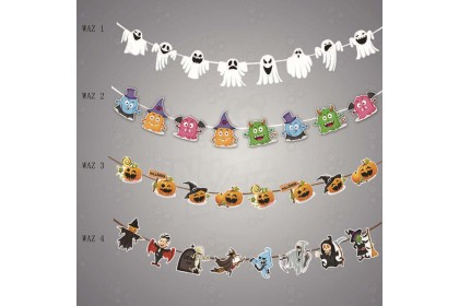 [Ready Stock] 3m Halloween Hanging Banner / 2.9m Halloween Hanging Banner (8pcs/pack)