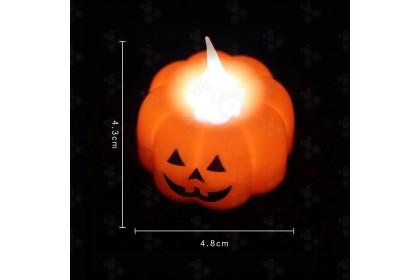 [Ready Stock] Halloween Skull/ Pumpkin/Spider Web Table Candle LED Light 1pcs