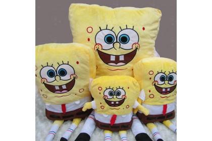 (Ready Stock) Yellow S.bob Soft Toy Stuffed Toy Plush Toy Doll (size: 30 ~ 160cm) 1pcs