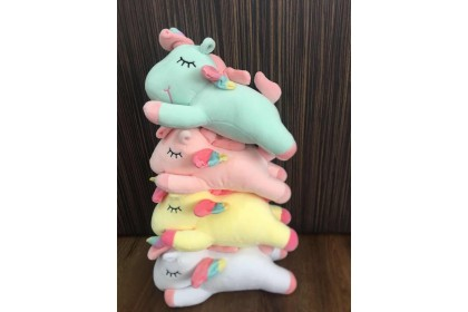 (Ready Stock) Cute Sleeping Unicorn Plush Toy... (various pattern) 1pcs
