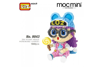LOZ 9043 MINI Character Cartoon Nano Diamond Creative Brick Dr Slump Arale Norimaki (Large) 1940pcs