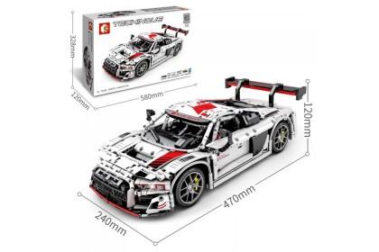 Sembo Techinque 701023 Jagger-LeCoulte-Audi R8 2019 LMS GT3 Sports Racing Car Building Block Bricks 2768+pcs