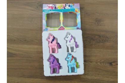 (Ready Stock) 4 pieces Elegant Unicorn Horse hard toys ...