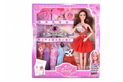(Ready Stock)11.5 Inch Sweet Girl Fashion Doll + Accessories  Hard Toy..