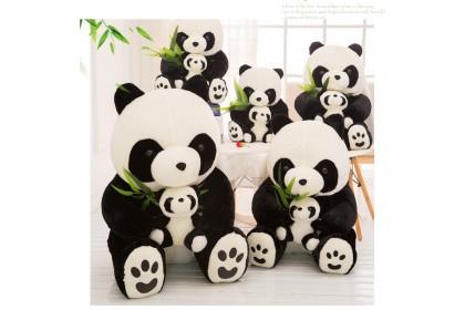 (Ready Stock ) 25cm Lovely Panda With Baby Panda Stuffed Toy Plush Toy Doll