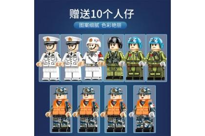 Sembo Block 202001 PLA.NAVY Shandong Ship Building Bricks 3010pcs