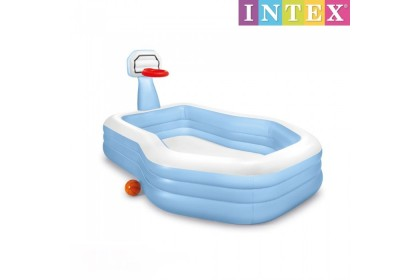 Intex 257cm Inflatable Swim Center Shootin' Hoops Family Pool with Basket Ball Game IT 57183NP No Ratings Yet
