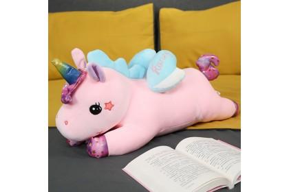 (Ready Stock) 80cm Sweet Honey Unicorn Pillow Stuffed Toy Plush Toy Doll gift