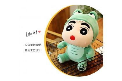 (Ready Stock) 30cm Baby Dinosaur Chin Chan Stuffed Toy Plush Toy Doll Gift