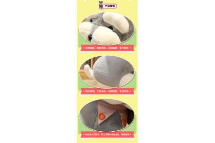 (Ready Stock) 2020 New 45CM Schnauzer Husky  Stuffed Toy Plush Toy Doll