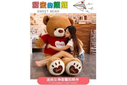 (Ready Stock) 120cm Sweet Love Teddy Bear Birthday Present Gift Stuffed Toy Plush Toy Doll
