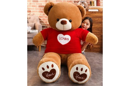 (Ready Stock) 100cm Sweet Love Teddy Bear Birthday Present Gift Stuffed Toy Plush Toy Doll