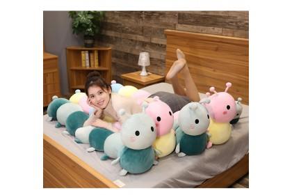 (Ready Stock) 120cm Soft Cute Caterpillar Doll Pillow Plush Doll Toy Stuffed Birthday Present