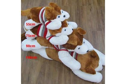 (Ready Stock) 100cm Cute Husky Wearing Sweater Stuffed Toy Plush Toy Doll Birthday Gift
