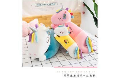 (Ready Stock) 2020 New 55cm Cute Sweet Love Unicorn Pillow Birthday Gift Stuffed Toy Plush Toy Doll